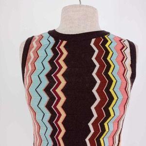 Missoni Classic Zig Zag In Colore Embroidered Mini